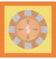 flat shading style icon roulette casino vector image
