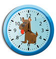funny cartoon clock for kids vector image