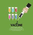 Hand Holding Syringe With Vaccine Inside vector image