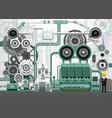 industrial machinery factory engineering vector image