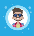 profile icon male avatar man cartoon portrait vector image