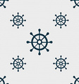 ship helm icon sign Seamless pattern with vector image