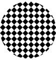 Black and white hypnotic background vector image