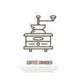 Modern line icon of coffee grinder Barista vector image