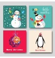 card with Christmas vector image