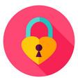 heart padlock circle icon vector image