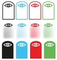 Eye icon Set vector image