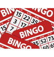 bingo card background vector image