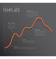 Infographic Line graph template vector image vector image