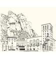 Drawing of Montserrat Monastery vector image