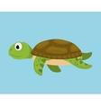 Sea fauna cartoon vector image