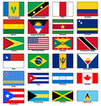 America continent Flags Set vector image