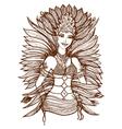 Brazilian girl vector image