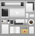 corporate identity blank template set business vector image