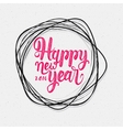 Happy new year label for greeting card vector image