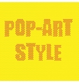 Pop-art style inscription vector image