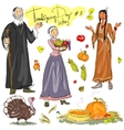 Thanksgiving day hand drawn collection Set 3 vector image