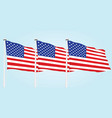 usa flags vector image