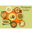 Portuguese cuisine icon for food design vector image