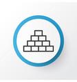 pyramid icon symbol premium quality isolated vector image