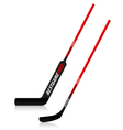 Ice hockey sticks vector image