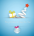 Simple blue christmas card vector image