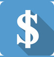 usd sign flat icon vector image