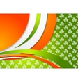 St Patrick Day background with Irish colors vector image