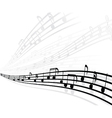 musical background with different notes vector image vector image