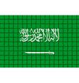 The mosaic flag of Saudi Arabia vector image vector image