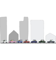 Activities during traffic jam vector image