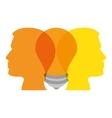 bulb light education person profile icon vector image