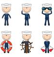 Cute seamen vector image