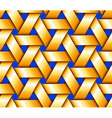 Golden Hexagonal Basketwork vector image