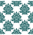 Green floral seamless pattern vector image
