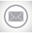 Grey letter sign icon vector image