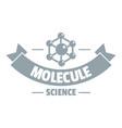 molecule logo simple gray style vector image