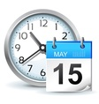 Schedule icon office vector image
