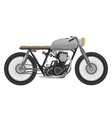 Old vintage motorcycle metallic color cafe racer vector image