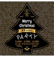 Christmas party poster abstract gold and vector image