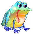 A colorful sad frog vector image vector image