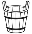 wooden bucket vector image