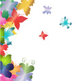 Abstract butterflies background vector image