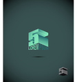 number 5 logo icon symbol from an alphabet letter vector image
