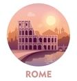 Travel destination Rome vector image vector image