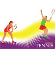 woman tennis poster vector image vector image