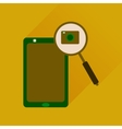 Flat icon with long shadow mobile phone camera vector image