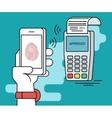 Mobile payment via smartphone using fingerprint vector image