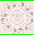 escargot decoration vector image