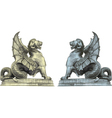 Chimera statues vector image